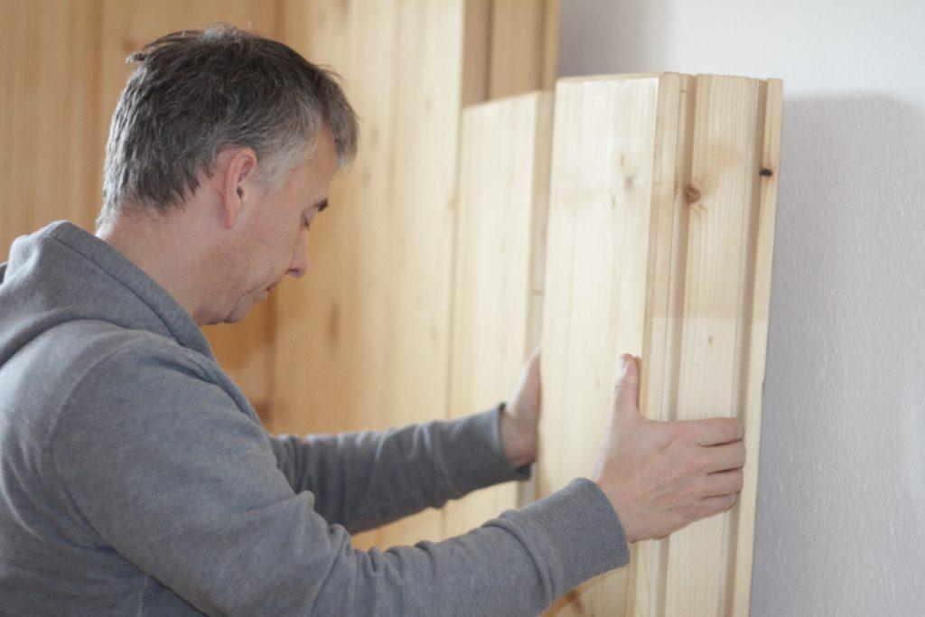 Holzbau horizontaler Blockbau